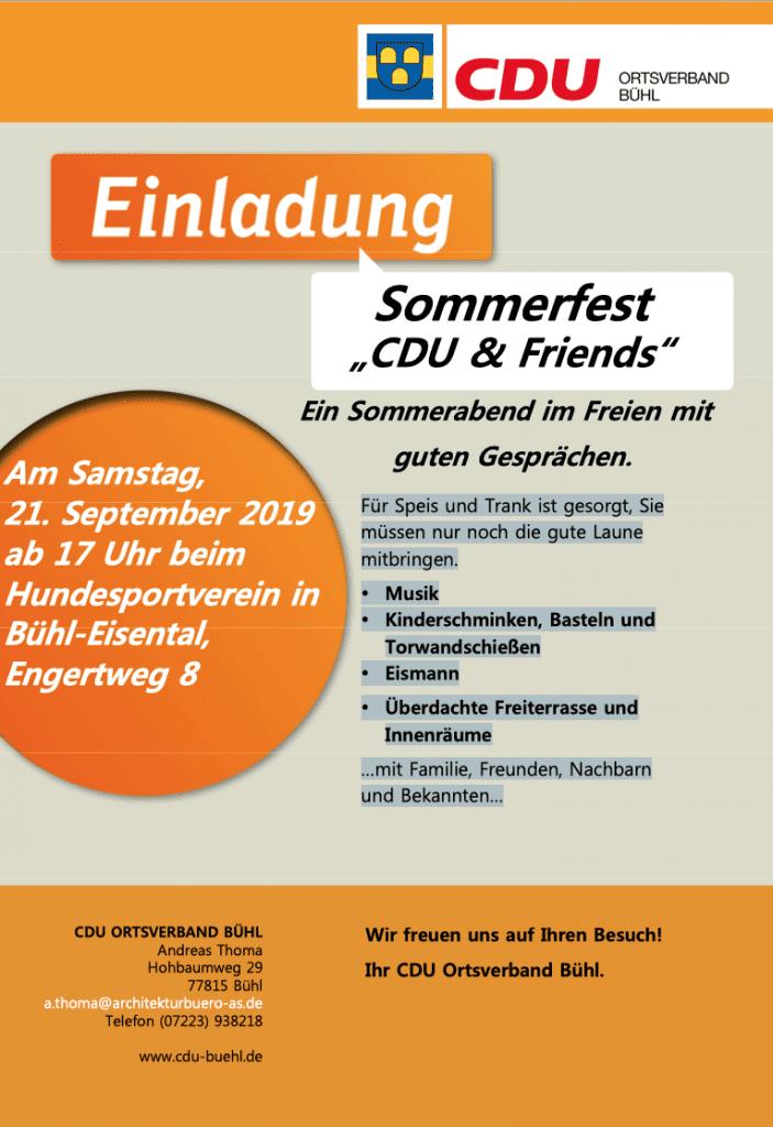 Sommerfest 2019 CDU Bühl